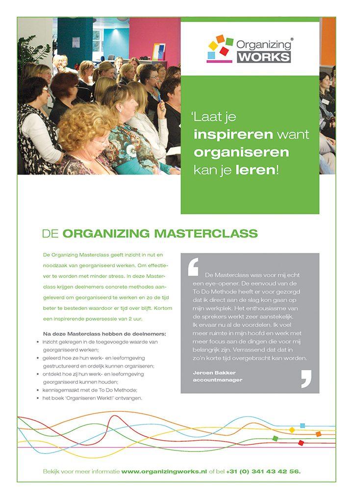 Masterclass Organizing Works(plannen en organiseren)